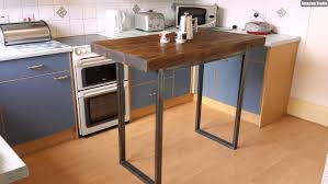 how to make a kitchen island with seating butcher block kitchen island table
