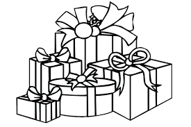 coloring page of christmas tree with presents christmas gift coloring page gift coloring pages presents coloring