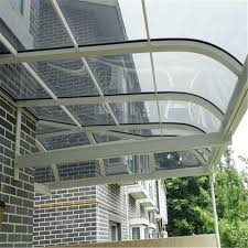 Metal Window Awnings Front Door Rain Cover Awning Polycarbonate Waterproof Material