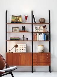 midcentury bookshelf 2 white and brown pinterest 2 built