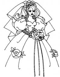 wedding dress coloring pages coloring page of bride wedding dress for kids coloring point