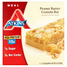 atkins chocolate chip granola bar 1 7oz 5 pack meal replacement