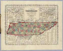 State Map Of Tennessee by Map Of Tennessee David Rumsey Historical Map Collection