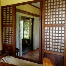 Types Of Windows For House Designs Simple Low Cost Mirror Flanked By Reclaimed Capiz Windows