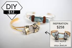 crystal bracelet diy images Diy free people wrapped quartz bangle chic creative life jpg
