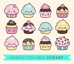 premium vector clipart kawaii cup cakes cute cupcakes clipart