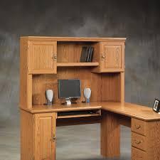 furniture natural elm wood l shaped corner computer desk with