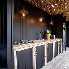 Outdoor Kitchen Ideas 20 Beautiful Outdoor Kitchen Ideas Black Cabinet Kitchens And
