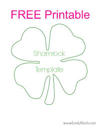 coloring pages free shamrock template coloring pages free
