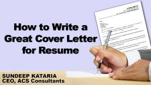 How To Make A Good Resume Cover Letter How To Write A Great Cover Letter For Resume Youtube