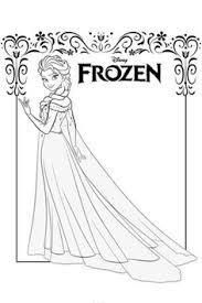 dibujo colorear elsa la reina las nieves princesas