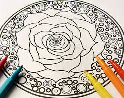 lotus in the sun mandala coloring page single page to print