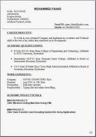 Sample Resume In Doc Format Latest Resume Format Download Free Download Latest Resume Format
