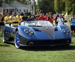 blue pagani pagani zonda hp barchetta made out of blue u0026 gray carbon fiber w