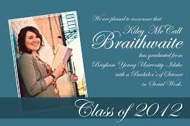 masters degree graduation announcements designs looking graduation invitation wording masters