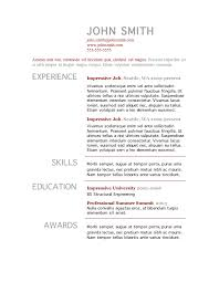 Free Resume Templates For Word by Resume Templates Gfyork