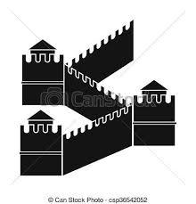 stock illustrations of great wall of china icon simple style