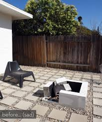 Modern Firepit Make It A Modern Diy Outdoor Pit Plus A Before After