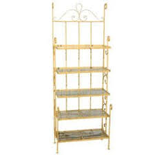 Bakers Rack Wrought Iron Narrow Wrought Iron And Brass Baker U0027s Rack For Sale At 1stdibs