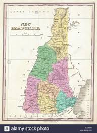 Map Maker Free 1827 Finley Map Of New Hampshire Anthony Finley Mapmaker Of The