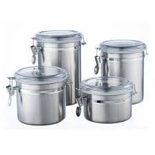 set stainless steel canister tea coffee sugar kitchen air the