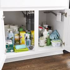 kitchen sink cabinet tray how to organize your sink storage step by step
