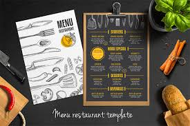 flyer menu template restaurant flyer templates 65 free word pdf psd eps