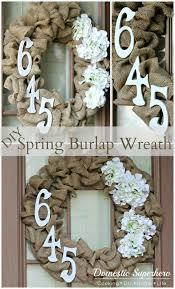 Diy Twig Wreath by Diy Spring Burlap Wreath Domestic Superhero