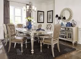 mirrored pedestal dining table vanity decoration