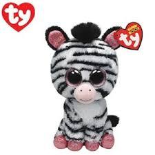 buy ty beanie boo izzy zebra plush toy graysonline australia