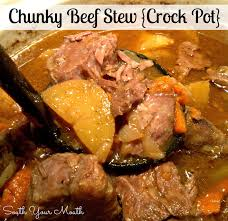 south your mouth chunky beef stew crock pot