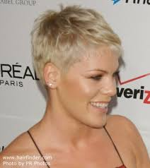 short haircut with ear showing pink boyish short hairstyle with the ears and neck exposed