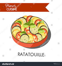 delicious ratatouille meal french cuisine isolated stock vector