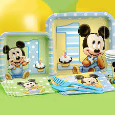 baby mickey 1st birthday mickey mouse birthday partyware disney baby