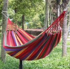 online cheap travel camping canvas hammock outdoor swing garden