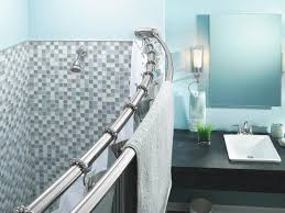 Modern Bathroom Shower Curtains by Decorating Exciting Double Curtain Rods With Shower Curtains And