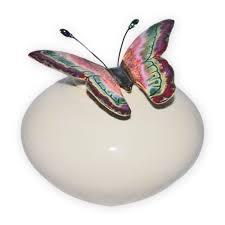 butterfly urn papillon ivory ceramic urn