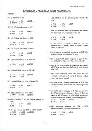 problemas razonados para cuarto grado problemas resueltos de porcentajes para primero segundo tercero