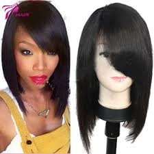 Inexpensive Human Hair Extensions by Bob Wigs For Black Women Realistic Lace Front Wig