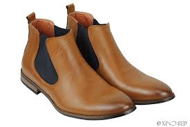 New Mens Leather Italia Style Vintage Chelsea Boots Casual Dealer