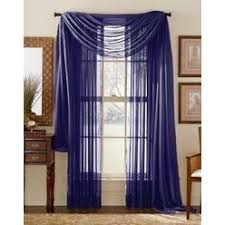 3 Panel Window Curtains Ahf Pc Sheer Voile Window Curtain Panel Set Royal Blue