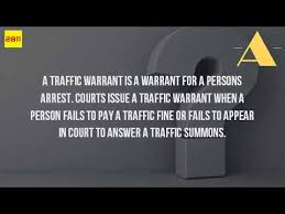 Definition Of A Bench Warrant What Is A Traffic Warrant Youtube
