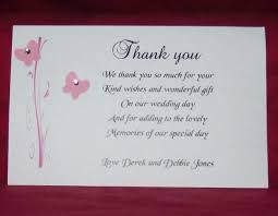thank you wedding gifts wedding thank you cards stylish thank you card for wedding gift