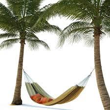 hammock on palm trees 3d model cgtrader