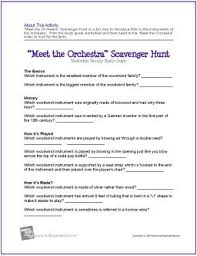 meet the orchestra u201d scavenger hunt worksheets the piano student