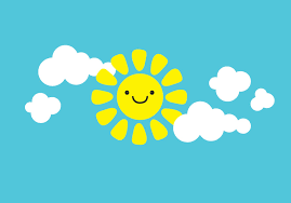 smiley sun with clouds wall decal sun wall decal clouds