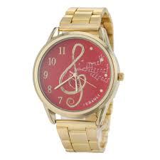 buy country style wristwatch ripple music note watch women retro