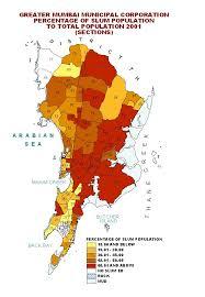 Bombay India Map by Mumbai Municipal Corporation Percentage Of Slum Population