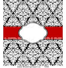 damask ribbon vector marriage clipart of a black and white damask