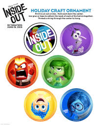 inside out printable ornaments and activity sheet